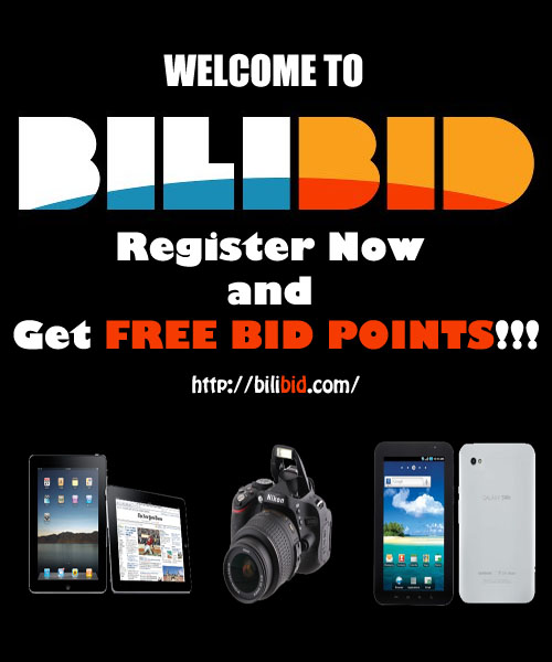 Register now at Bilibid.com to get FREE 15 Bids!