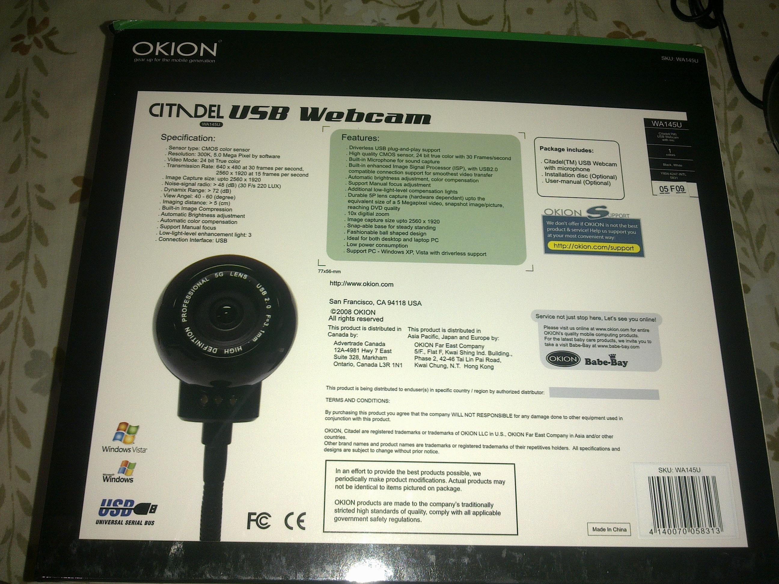 Okion 5 MP Webcam