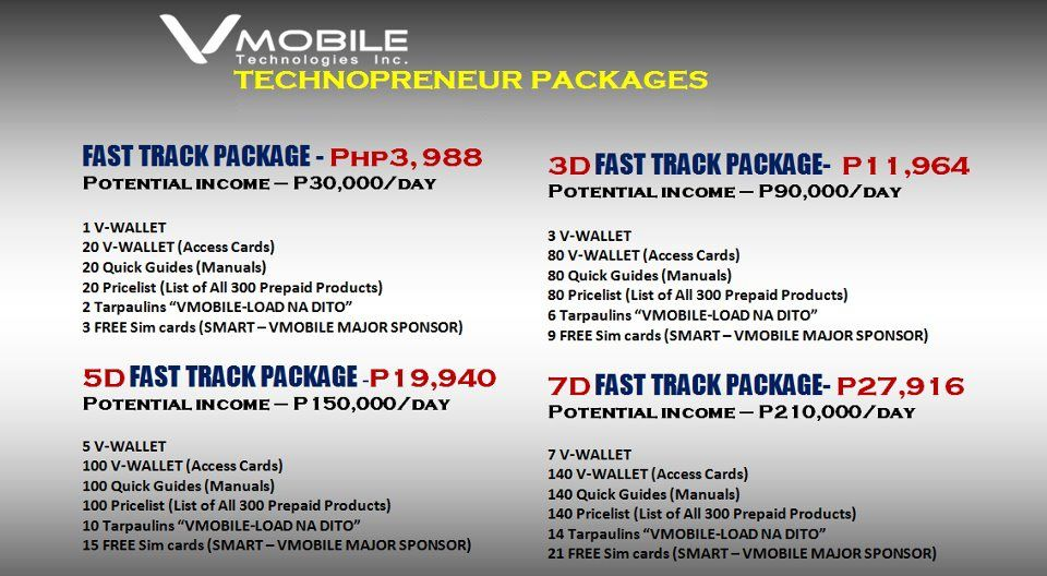 vMobile Packages