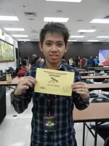 Wordcamp Philippines 2012 Certificate